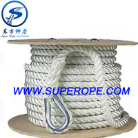 3 strands polyester rope/Dock Line/Anchor rope/braided polyester rope