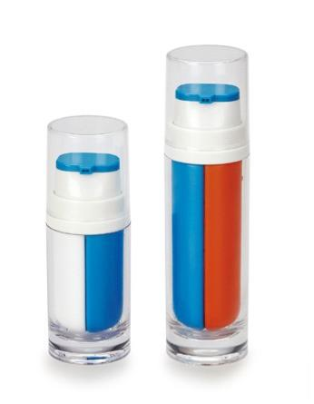 double pump acrylic airless bottle