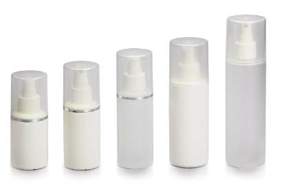 cylindrical white spray bottle