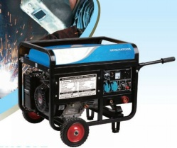 6.5KW Gasoline generator-welder with electric start+wheel and handles