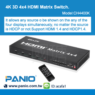 4*4 port HDMI Matrix Extender